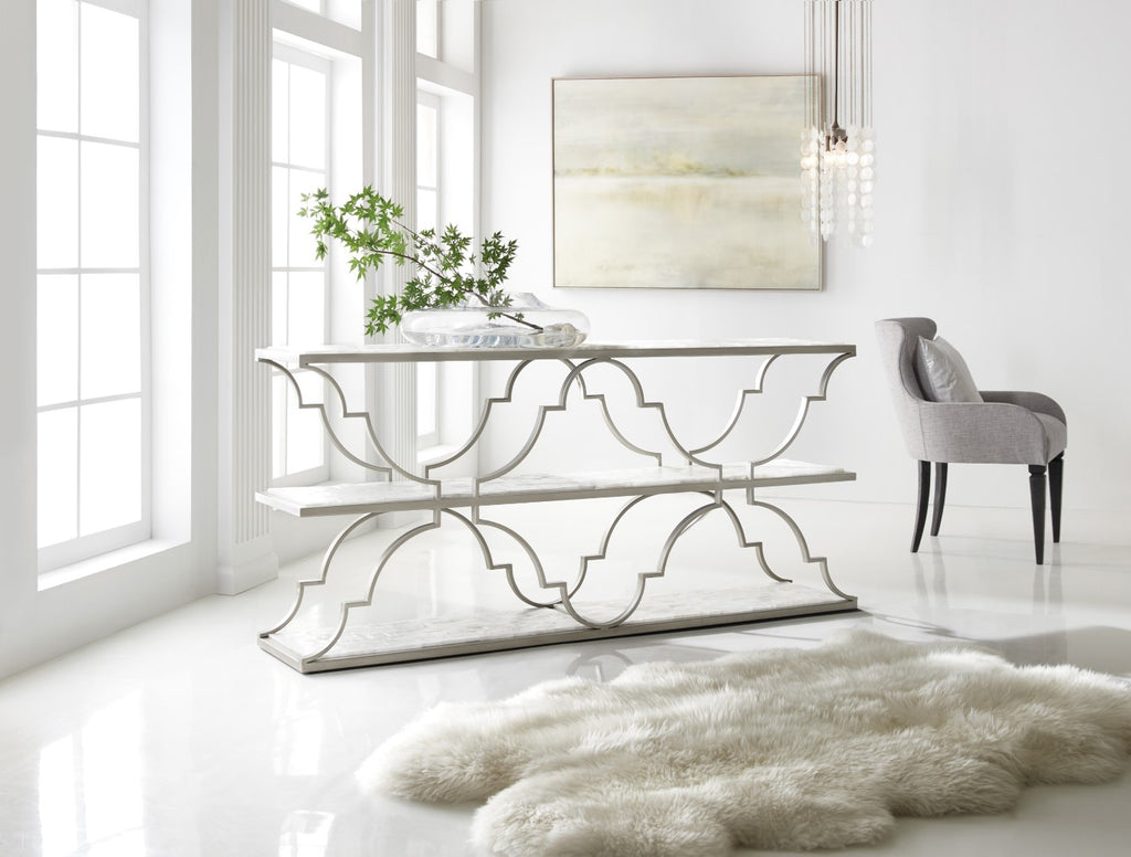 Hooker Furniture Melange Traditional/Formal Metal with Hardwood Solids and Gypsum Golden Gate Console 638-85415-MULTI