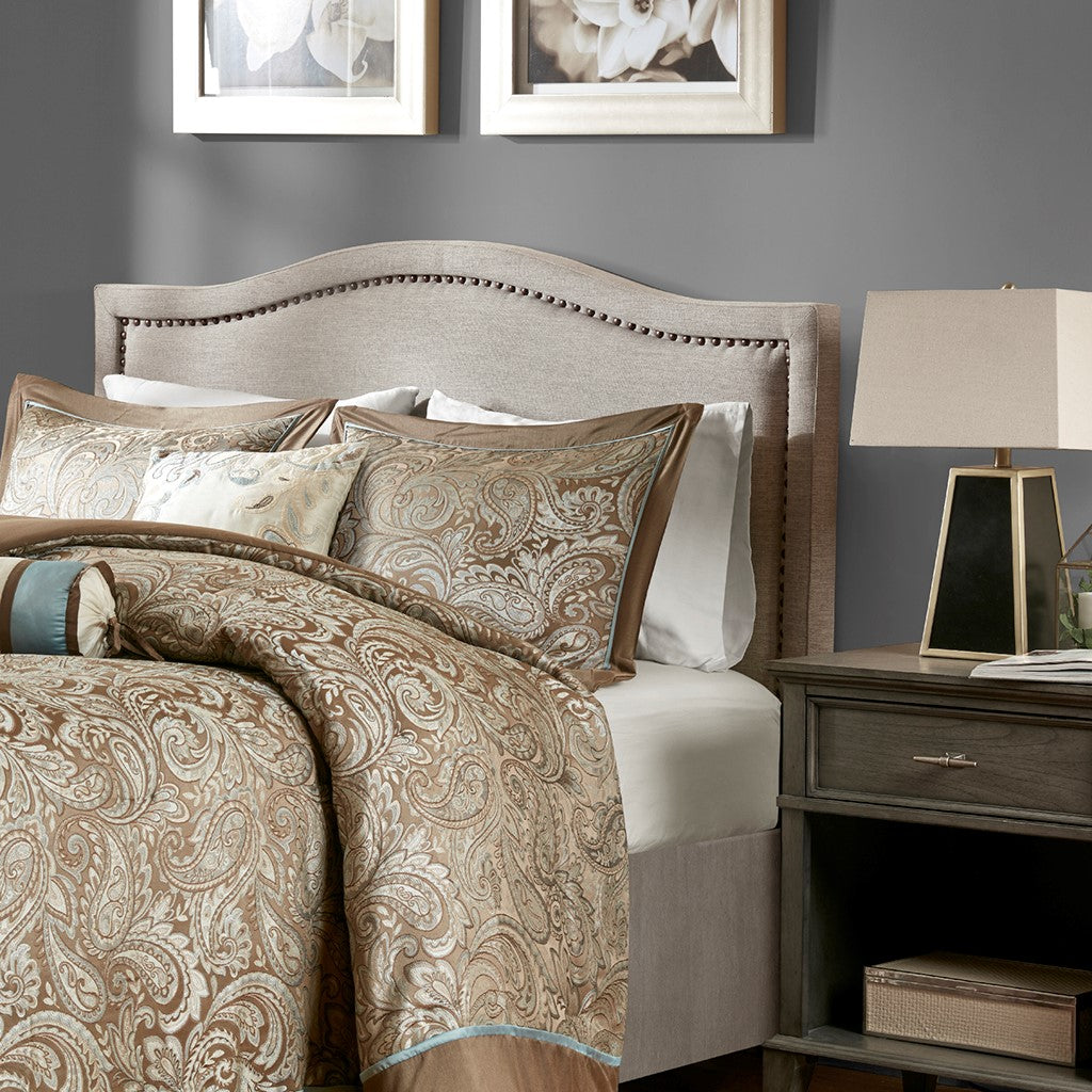 Madison Park Nadine Transitional Upholstery Headboard MP116-0353