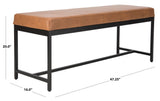 Safavieh Chase Faux Leather Bench Brown Black BCH6204A 889048651142