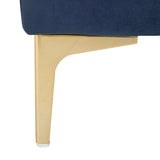 Safavieh Giovanna Bench Square Navy Brass Metal Foam Velvet BCH6301A 889048494688