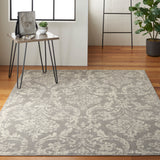 Jubilant JUB09 Power Loomed 100% Polypropylene Grey 6' x 9' Rectangle Rug