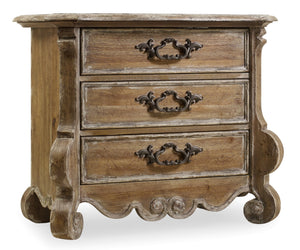 Hooker Furniture Chatelet Traditional-Formal Nightstand in Poplar Solids with Pecan Veneers 5300-90016