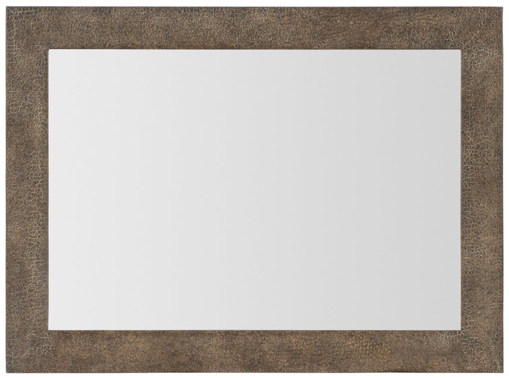 Hooker Furniture Miramar - Point Reyes Transitional Miramar Point Reyes Costa Mesa Leather Mirror in Oak Solids and Quarter Flaky Oak Veneer with Faux Leather 6201-90004-MULTI