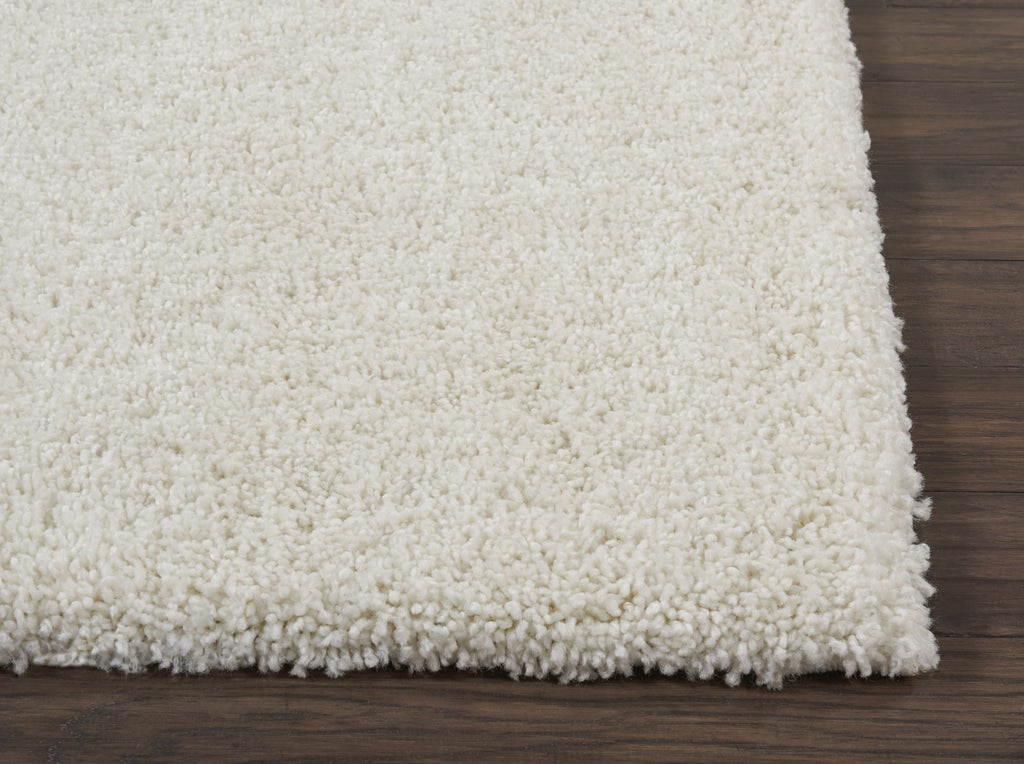 "Malibu Shag MSG01 Power Loomed 100% Polypropylene Ivory 9'10"" x 13'2"" Rectangle Rug"