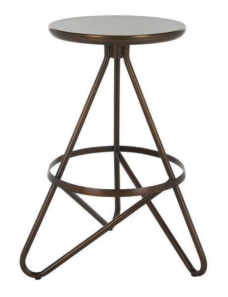 Safavieh Galexia Counter Stool Antique Copper Metal Iron BST3201A 889048446052