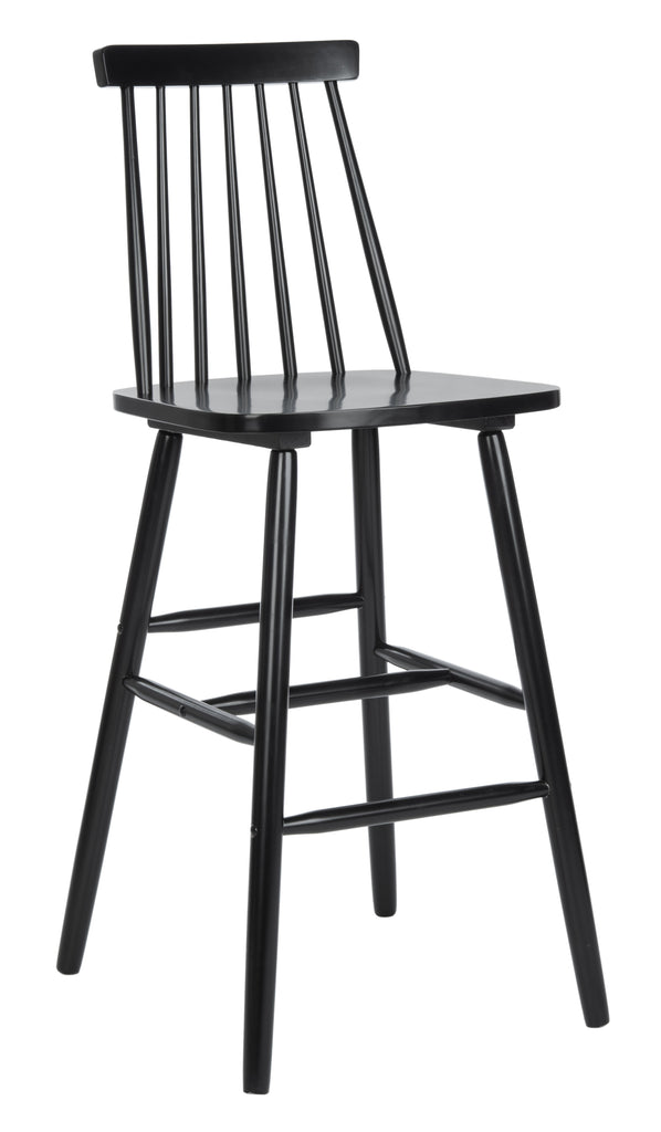 Safavieh Beaufort Bar Stool in Black BST8500B-SET2 889048826472