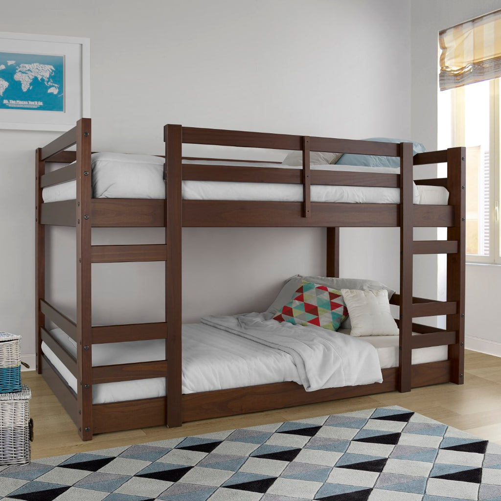 Low Twin Bunk Bed English Elm