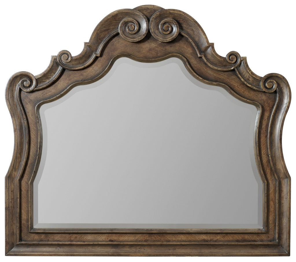 Hooker Furniture Rhapsody Traditional-Formal Mirror in Hardwood Solids & Mirror 5070-90008