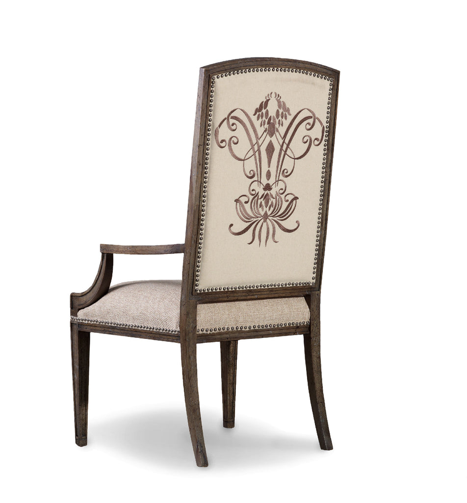 Hooker Furniture - Set of 2 - Rhapsody Traditional-Formal Insignia Arm Chair in Hardwood Solids, Fabric 5070-75400