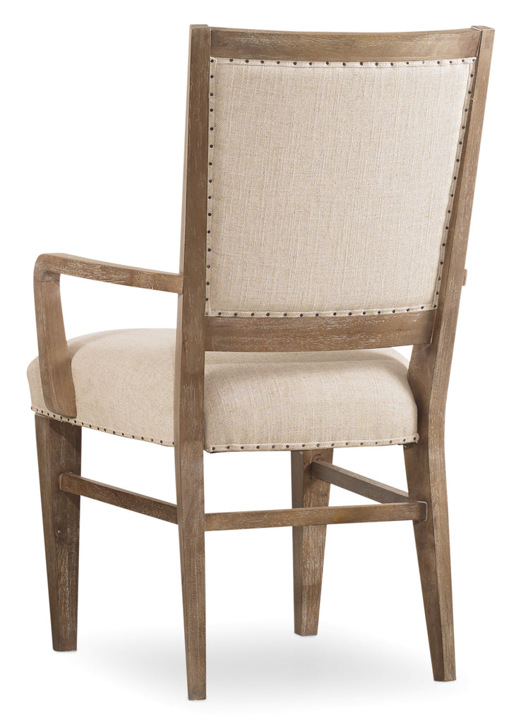 Hooker Furniture - Set of 2 - Studio 7H Casual Stol Upholstered Arm Chair in Acacia Solids and Acacia Veneers 5382-75400