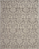 "Jubilant JUB09 Power Loomed 100% Polypropylene Grey 7'10"" x 9'10"" Rectangle Rug"
