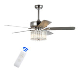 Safavieh Dresher Ceiling Light Fan in Silver/White Maple CLF1006A