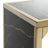 Safavieh Kylie Console Table Black Brass Wood Paper Veneer MDF Metal Tube CNS6201A 889048438750