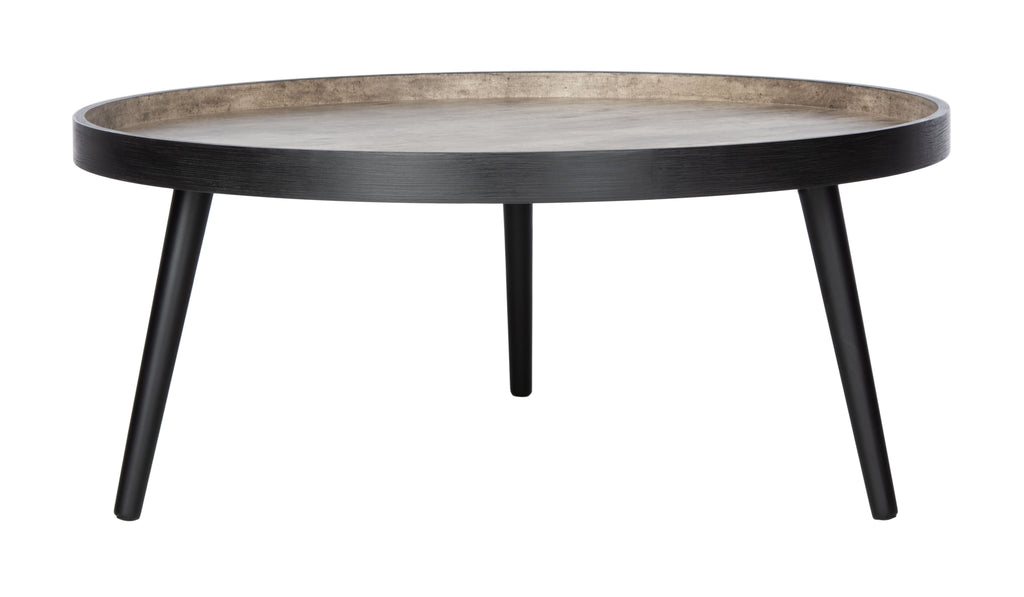 Safavieh Fritz Tray Top Coffee Table in Light Grey and Black COF4204B 889048767218