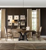 Hooker Furniture Corsica Traditional-Formal Dark Round Dining Table (Dark Base/Light Top) in Acacia Solids and Veneers 5280-75213