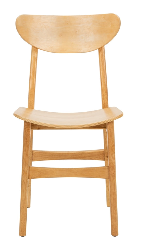 Safavieh - Set of 2 - Lucca Retro Dining Chair Natural Wood DCH1001A-SET2