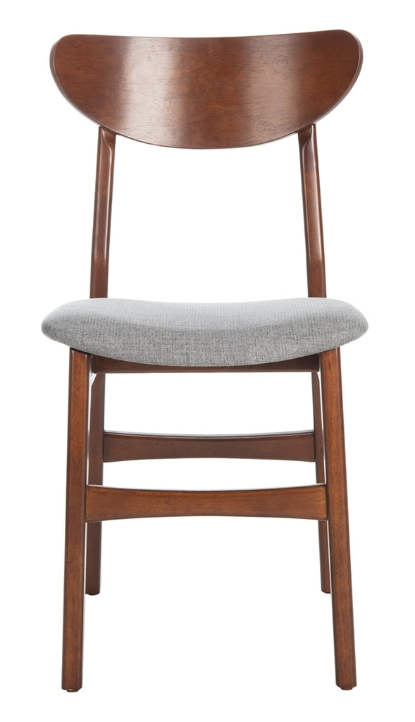Safavieh - Set of 2 - Lucca Retro Dining Chair Cherry Grey Wood DCH1001E-SET2
