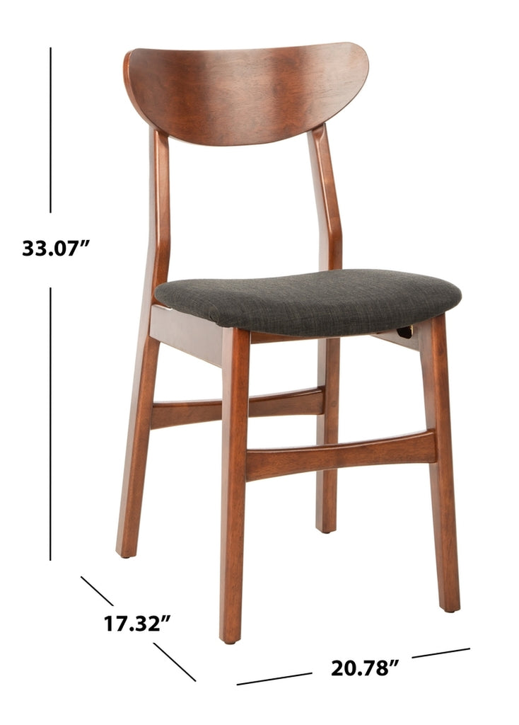 Safavieh - Set of 2 - Lucca Retro Dining Chair Cherry Black Wood DCH1001F-SET2