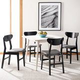 Safavieh - Set of 2 - Lucca Retro Dining Chair Black Grey Wood DCH1001H-SET2