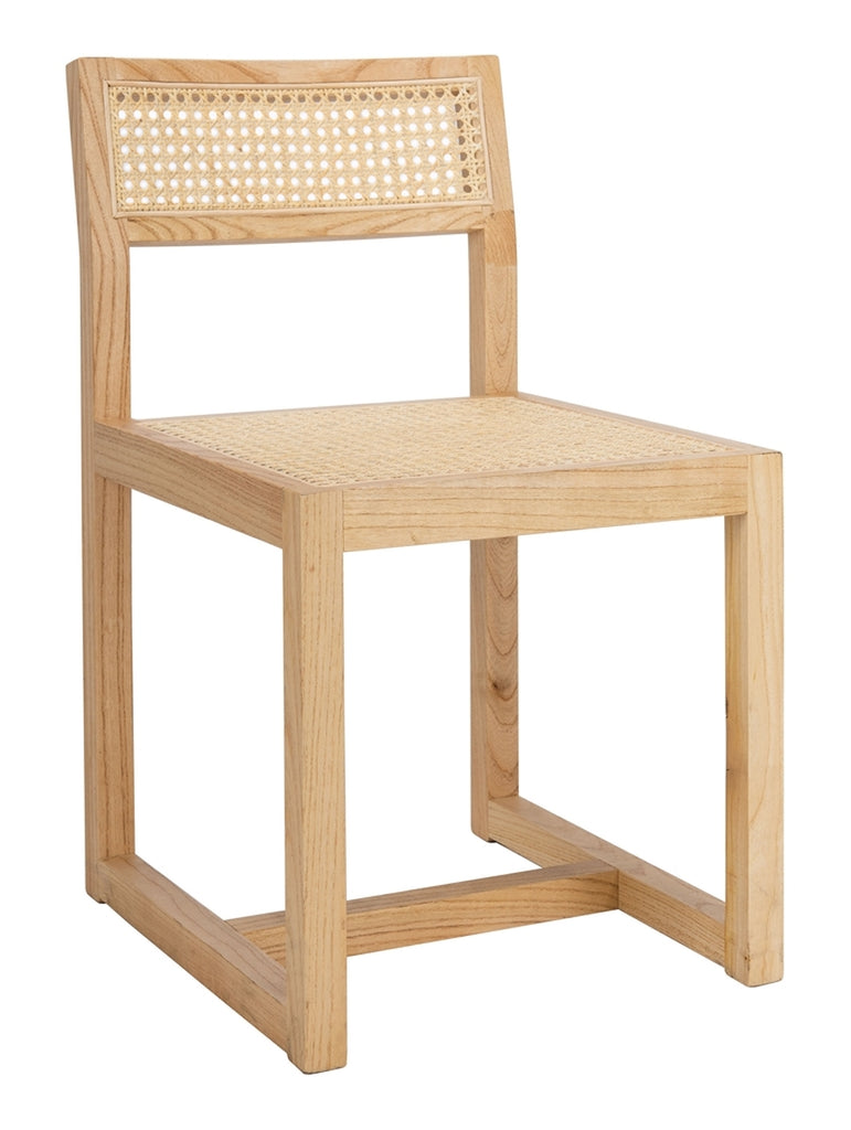 Safavieh Bernice Cane Dining Chair Natural Wood DCH9502C
