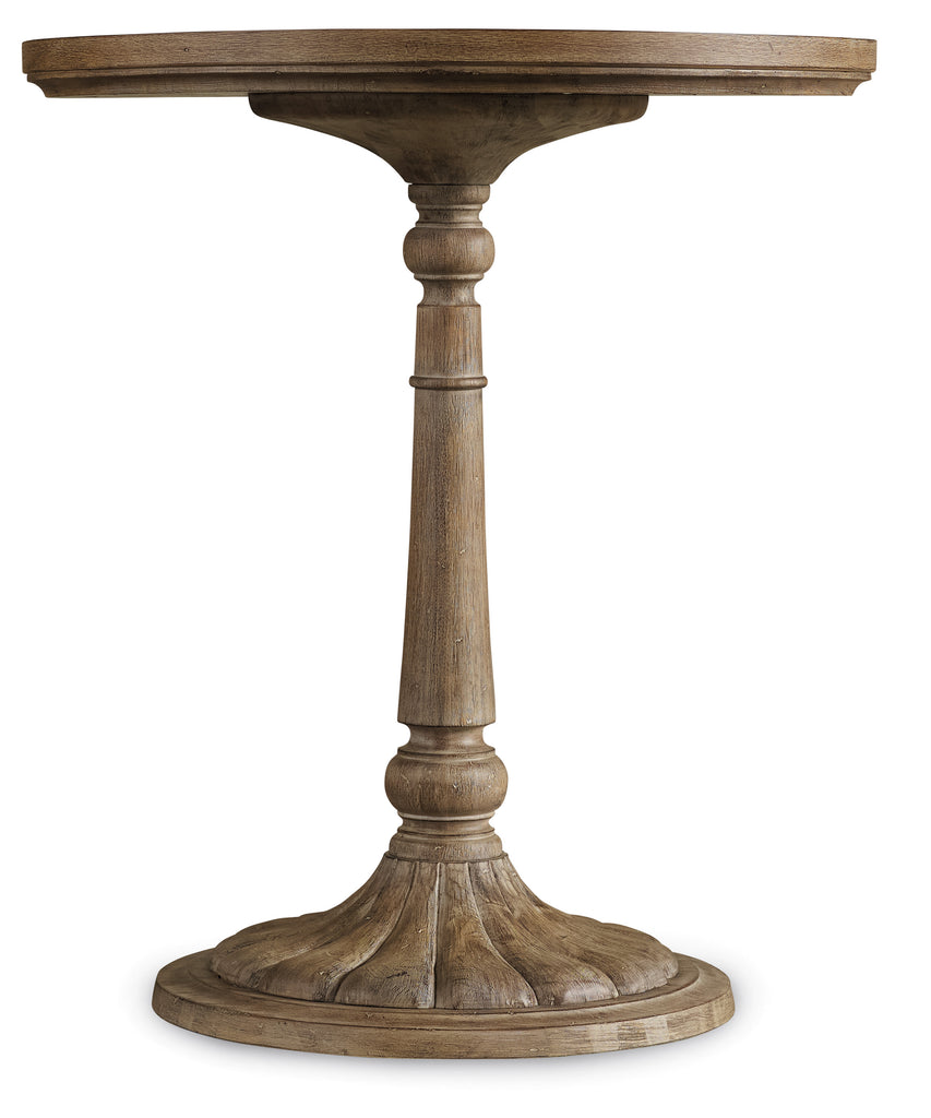 Hooker Furniture Corsica Traditional-Formal Round Bedside Table in Acacia Solids and Veneers 5180-90015