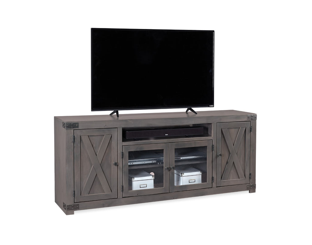 "Urban Farmhouse Industrial Smokey Poplar and Alder solids - Maple and Alder Veneer 72"" Console"