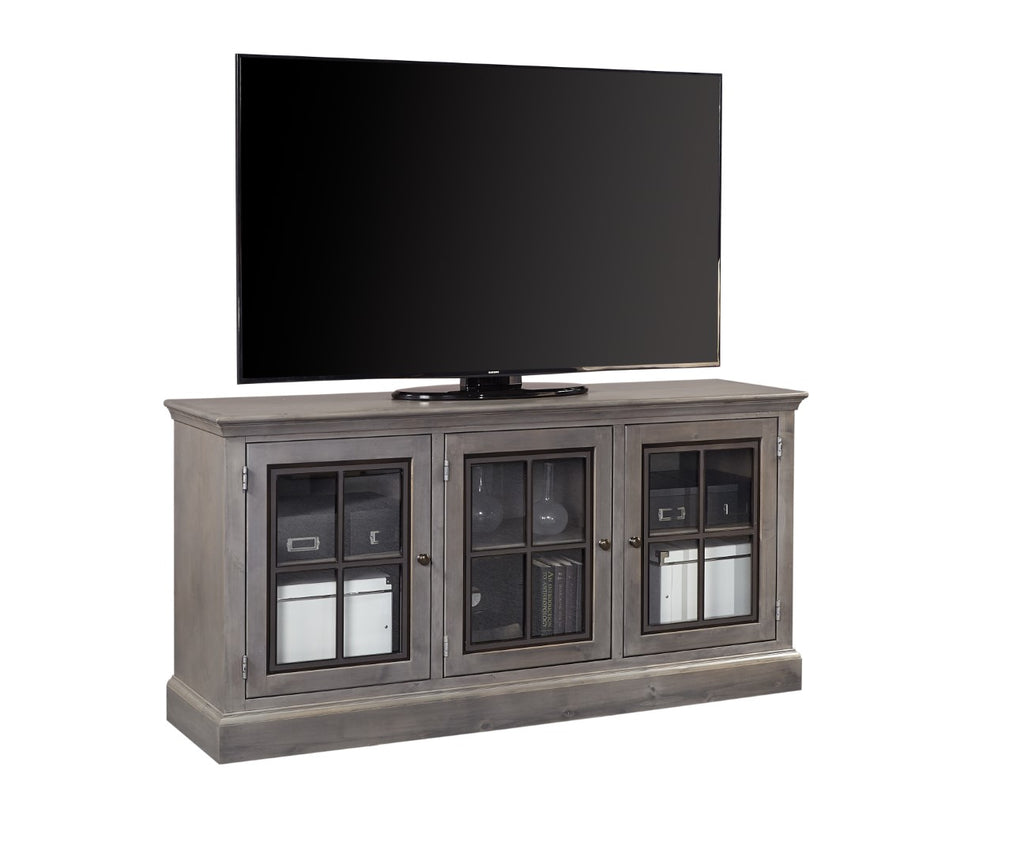 "Churchill Transitional 66"" Console with 3 Doors"