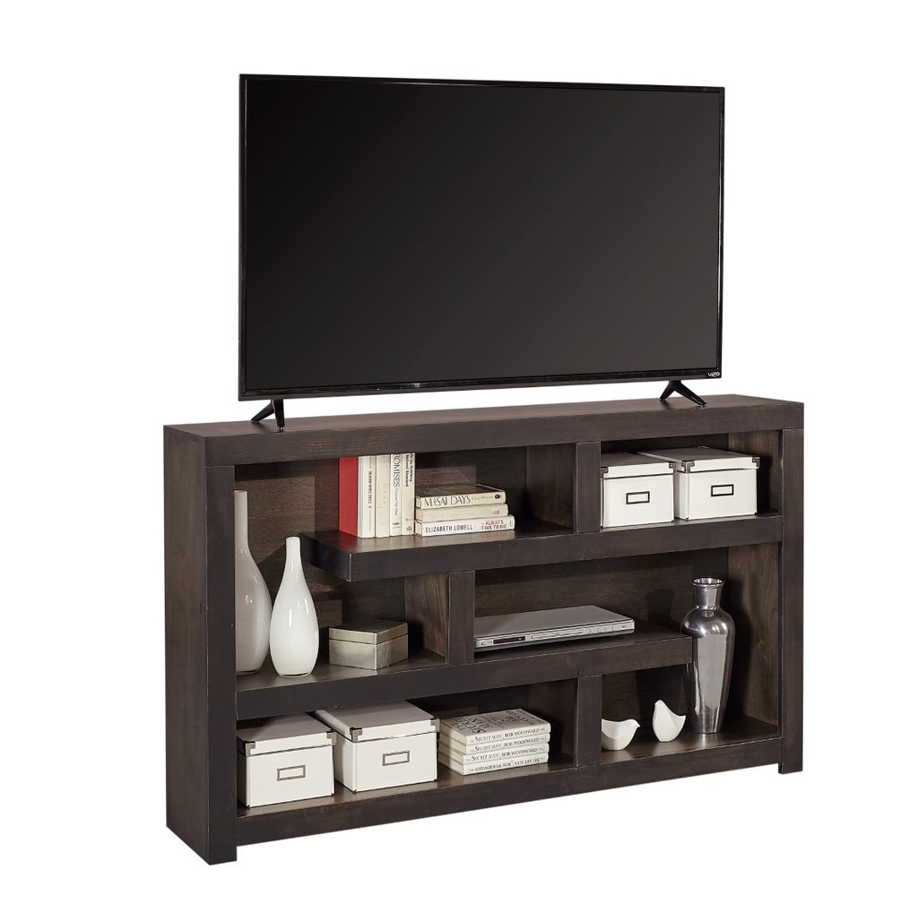 Avery Loft Contemporary Ghost Knotty Alder - Knotty Alder Veneer Open Display/Console