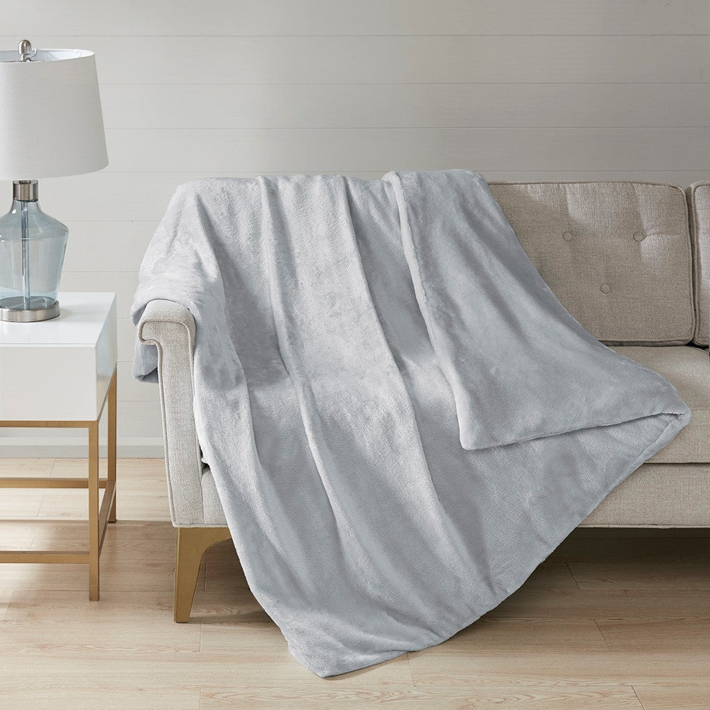 Plush Casual 100% Polyester Solid Weighted Blanket