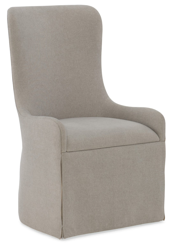 Hooker Furniture Miramar - Aventura Transitional Miramar Aventura Gustave Upholstered Host Chair in Oak Solids and Fabric 6202-75500-DKW