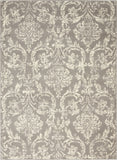 "Jubilant JUB09 Power Loomed 100% Polypropylene Grey 5'3"" x 7'3"" Rectangle Rug"