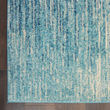 Passion PSN09 Power Loomed 100% Polypropylene Navy/Light Blue 8' x 10' Rectangle Rug