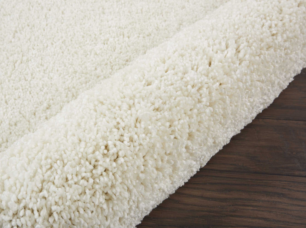"Malibu Shag MSG01 Power Loomed 100% Polypropylene Ivory 2'2"" x 9'10"" Runner Rug"