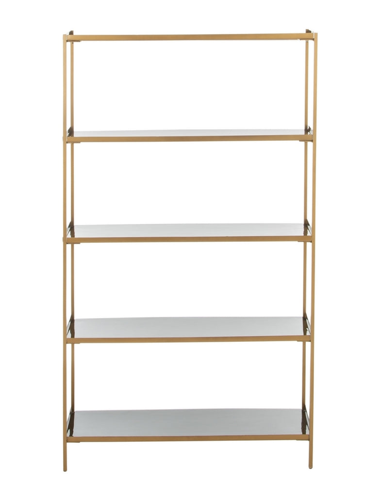 Safavieh Justine 5 Tier Etagere Black Brass Metal ETG3201A