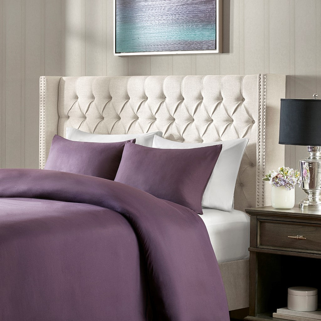 Amelia Transitional King Upholstery Headboard
