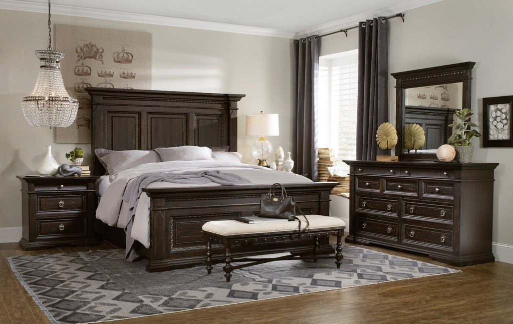 Hooker Furniture Treviso Traditional-Formal Dresser in Spruce Solids with Rustic Pine Veneers 5374-90002