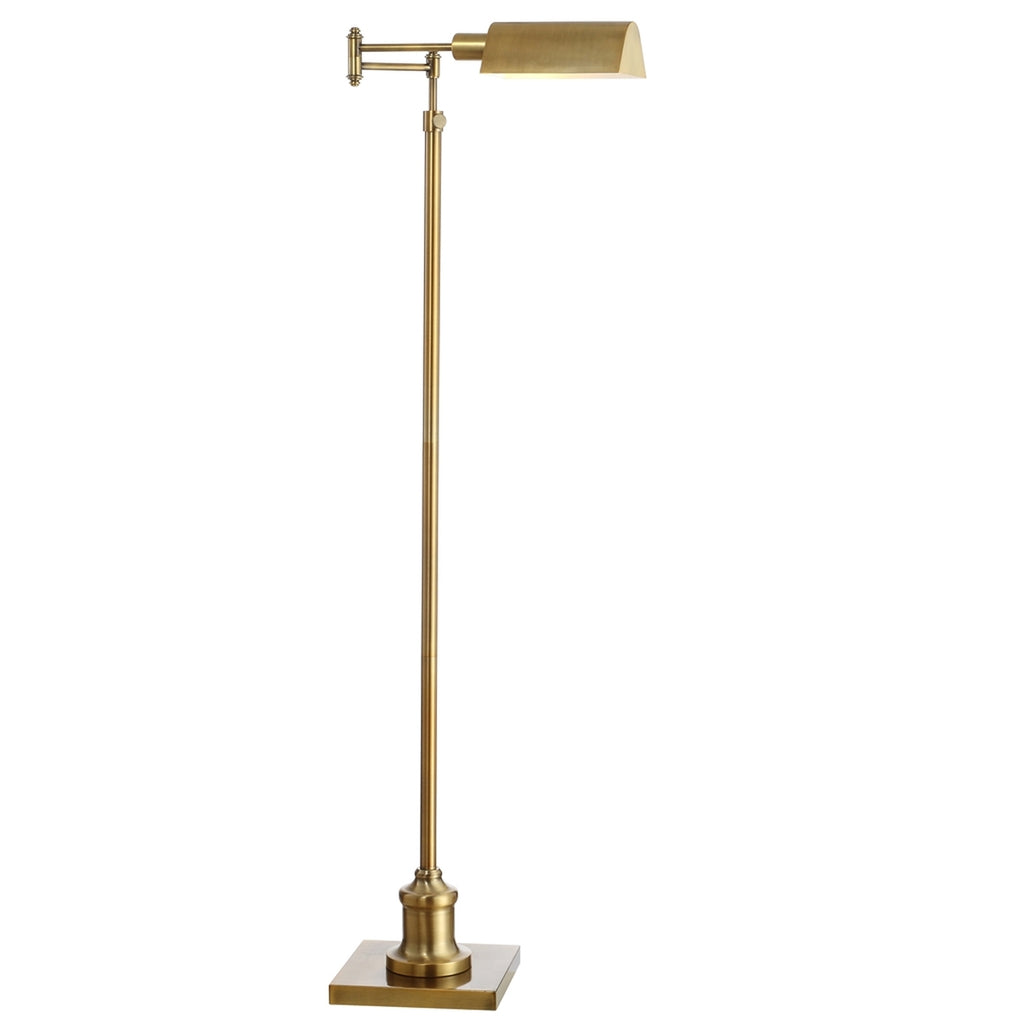 Safavieh Briggs Floor Lamp in Brass Gold FLL4065A