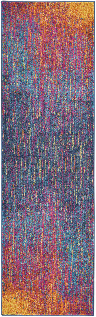 "Passion PSN09 Power Loomed 100% Polypropylene Multicolor 2'2"" x 10' Runner Rug"