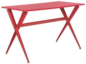 Safavieh Chapman Desk Red Wood MDF Iron FOX2208B 889048171640