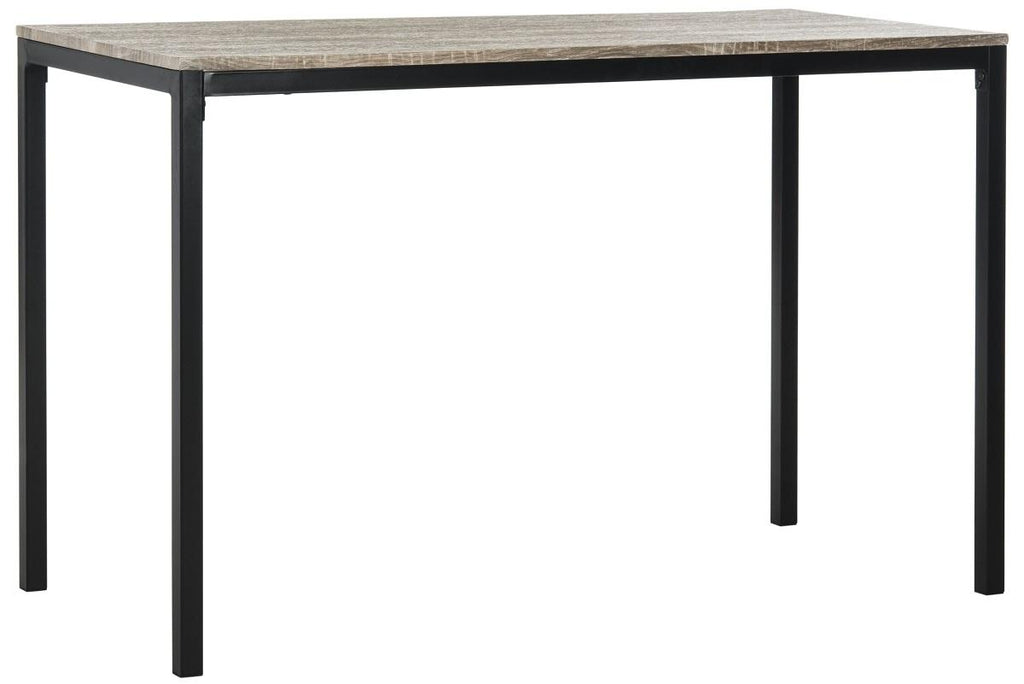 "Safavieh Janison Writing Desk 47"" Grey Black Wood MDF Iron FOX2230A 889048200111"