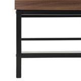 Safavieh Gina Coffee Table Contemporary Lift Top Dark Oak Black Wood PVC MDF Metal Tube FOX2239A 889048431904
