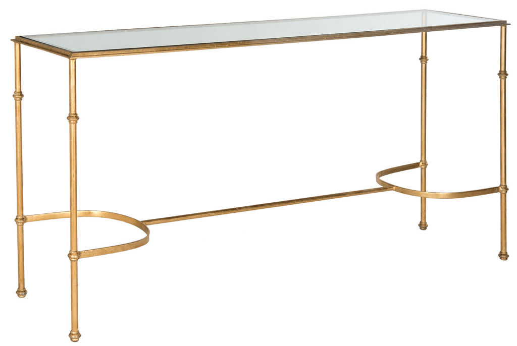 Safavieh Lucille Console Gold Metal Lacquer Coating Iron FOX2548A 683726304005