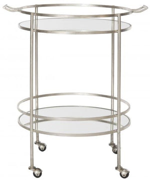 Safavieh Lavinia Bar Cart Silver Metal Lacquer Coating Iron FOX2552A 683726732600