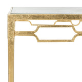 Safavieh Lura Coffee Table Retro Gold Metal Iron FOX2602A 889048118256