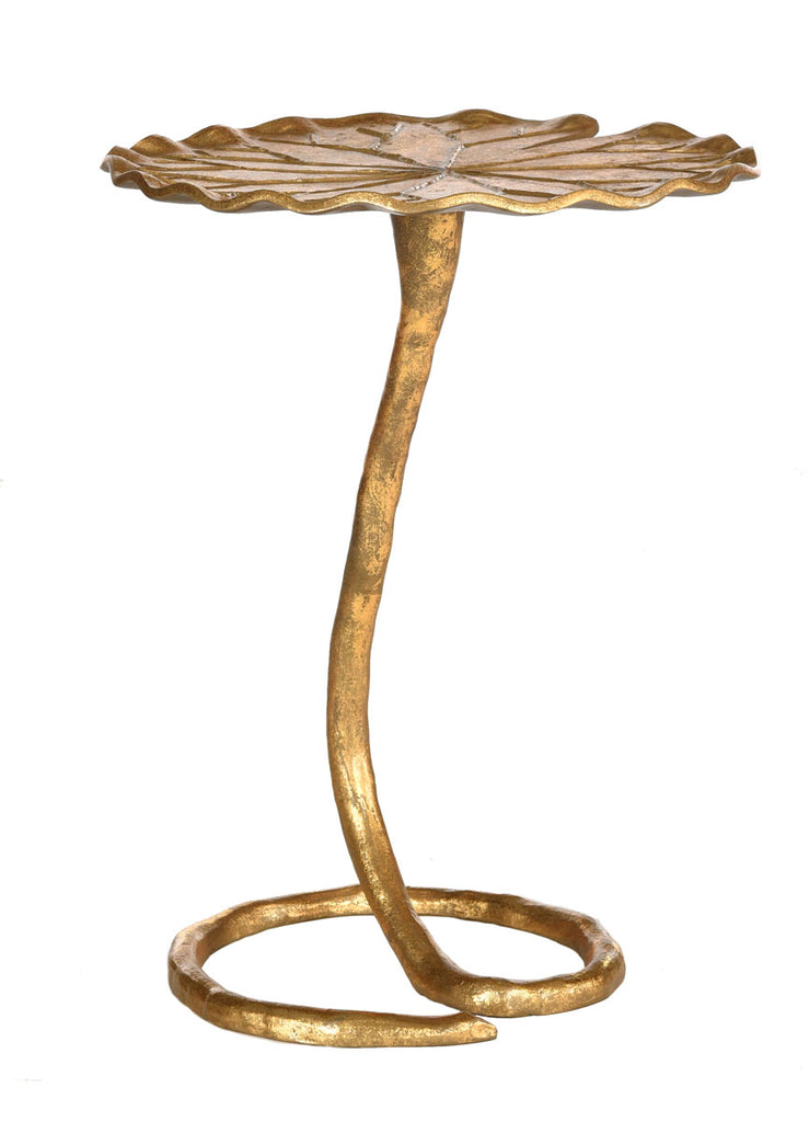 Safavieh Justina Side Table Gold Metal Aluminum FOX3245A 889048112223