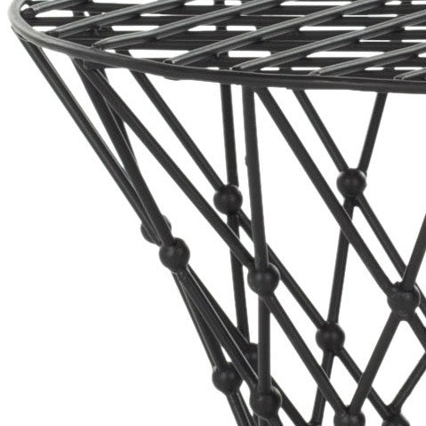 Safavieh Charlotte Stool Iron Wire Black Metal Powder Coating FOX4501A 683726529651