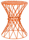 Safavieh Charlotte Stool Iron Wire Orange Metal Powder Coating FOX4501C 683726668442