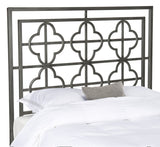 Safavieh Lucinda Headboard Full Antique Iron Foam Metal Black Plating FOX6215C-F 889048013186