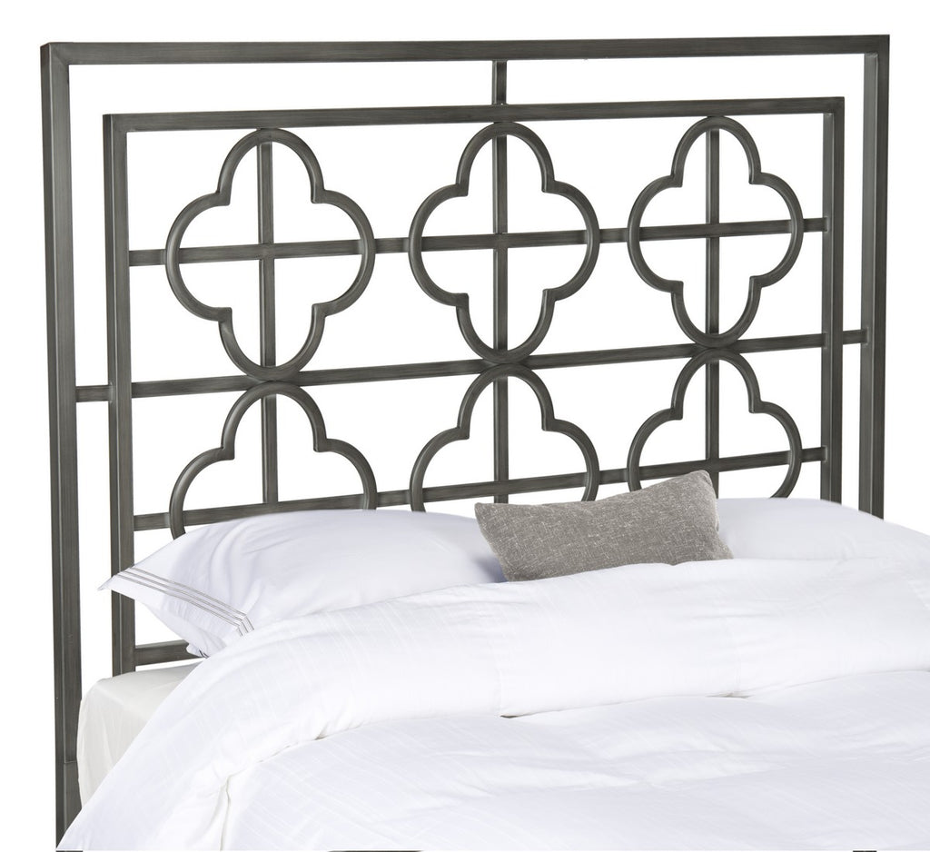 Safavieh Lucinda Headboard Queen Antique Iron Foam Metal Black Plating FOX6215C-Q 889048013193