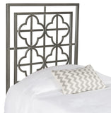 Safavieh Lucinda Headboard Twin Antique Iron Foam Metal Black Plating FOX6215C-T 889048023987